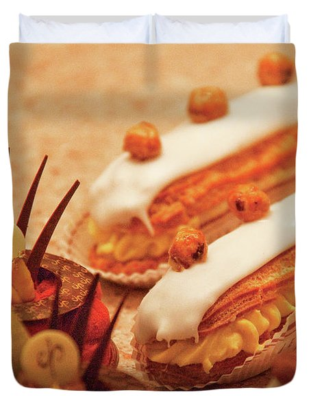 Food - Cake - Little Cakes Duvet Cover by Mike Savad