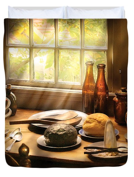 Food - Ready For Guests Duvet Cover by Mike Savad