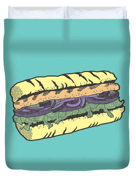 Food Masquerade Duvet Cover by Freshinkstain