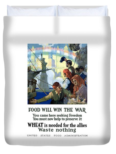 Food Will Win The War Duvet Cover by War Is Hell Store