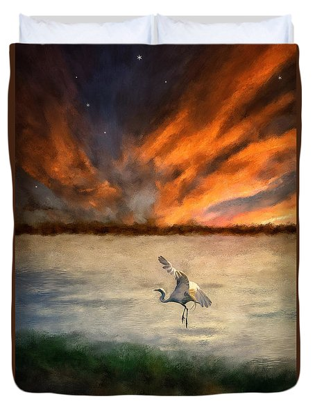 For Just This One Moment Duvet Cover by Lois Bryan
