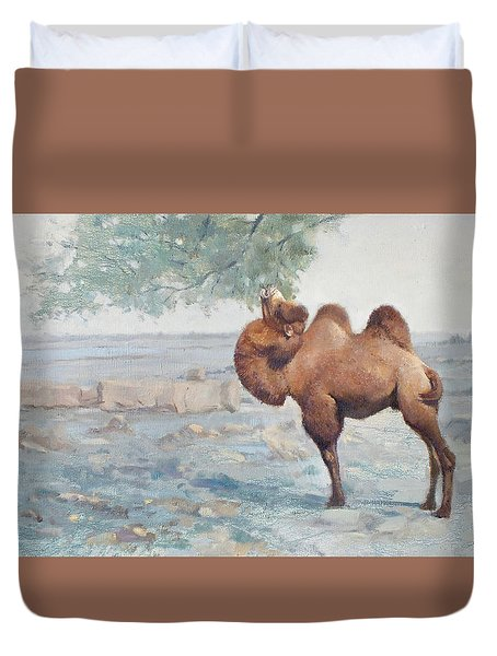 Foraging Duvet Cover by Chen Baoyi