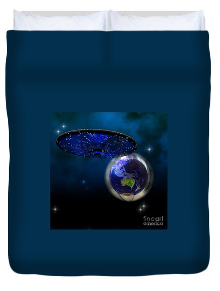 Force Field Duvet Cover by Corey Ford