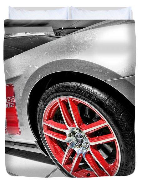 Ford Mustang Boss 302 Duvet Cover by Gordon Dean II