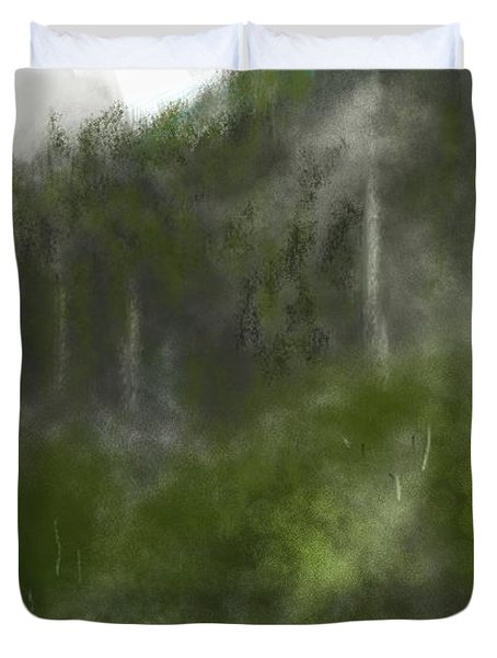 Forest Landscape 10-31-09 Duvet Cover by David Lane