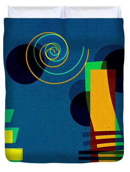 Formes - 03b Duvet Cover by Variance Collections