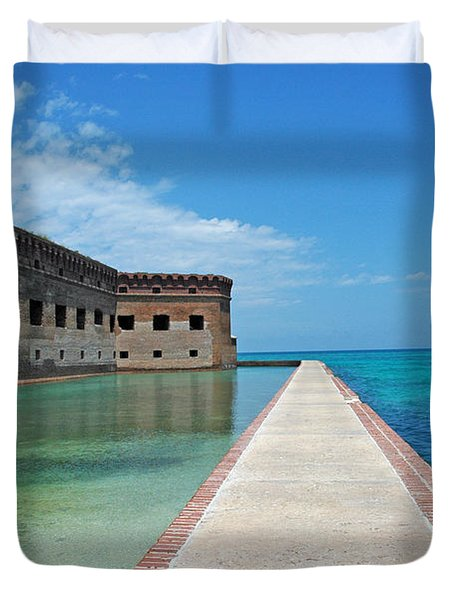 Fort Jefferson Dry Tortugas Duvet Cover by Susanne Van Hulst