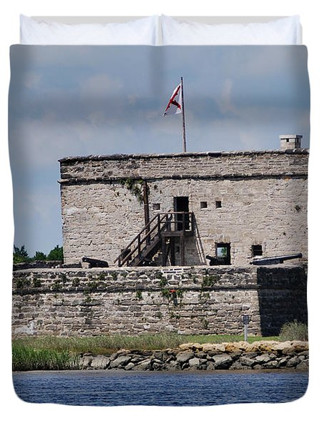 FORT MATANZAS Duvet Cover by Skip Willits