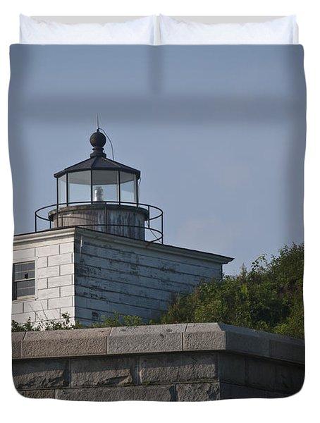 Fort Taber Lighthouse Duvet Cover by David Gordon