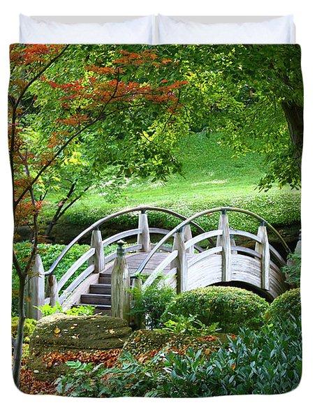 Fort Worth Botanic Garden Duvet Cover by Joan Carroll