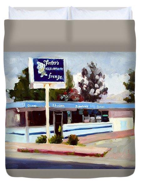 Foster's Freeze Duvet Cover by Deborah Cushman