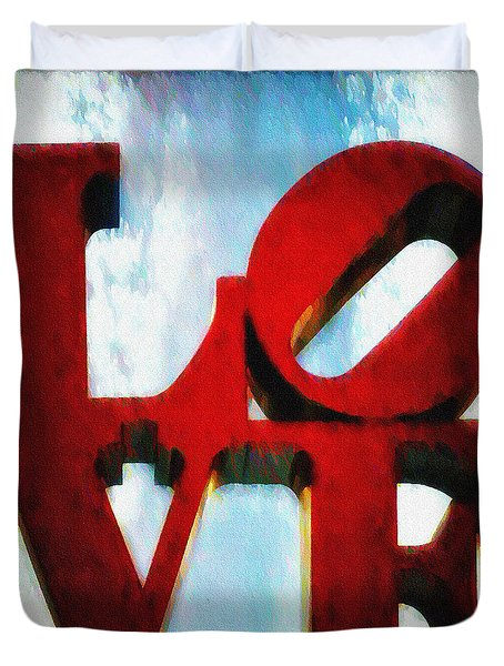 Fountain of Love  Duvet Cover by Bill Cannon
