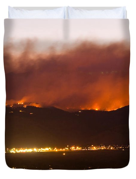 Fourmile Canyon Fire Burning Above North Boulder Duvet Cover by James BO  Insogna