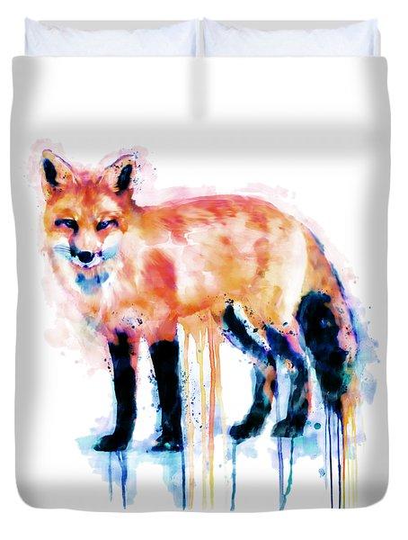 Fox  Duvet Cover by Marian Voicu