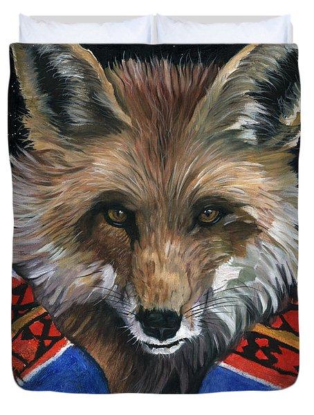 Fox Medicine Duvet Cover by J W Baker