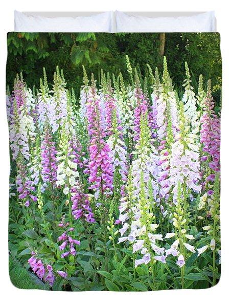 Foxglove Garden Duvet Cover by Carol Groenen