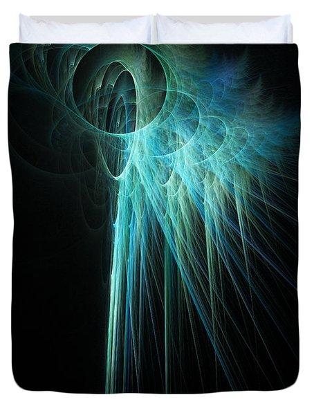 Fractal Rays Duvet Cover by John Edwards