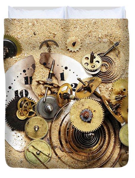 fragmented clockwork in the sand Duvet Cover by Michal Boubin