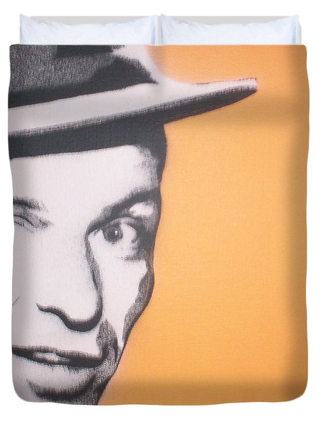 Frank Sinatra Duvet Cover by Gary Hogben