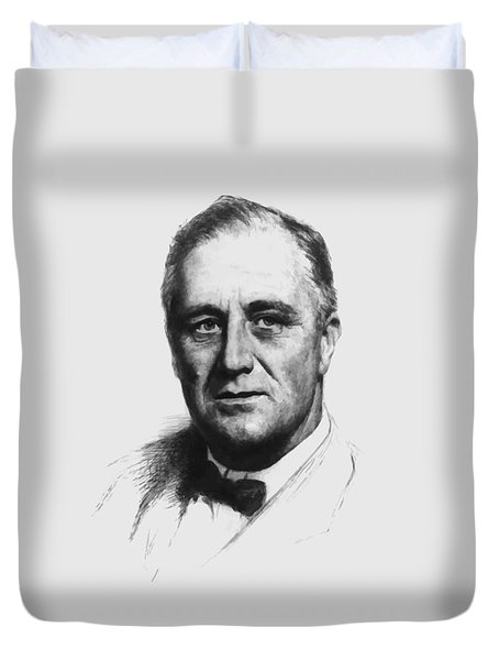 Franklin Roosevelt Duvet Cover by War Is Hell Store