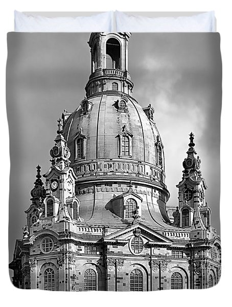 Frauenkirche Dresden - Church Of Our Lady Duvet Cover by Christine Till