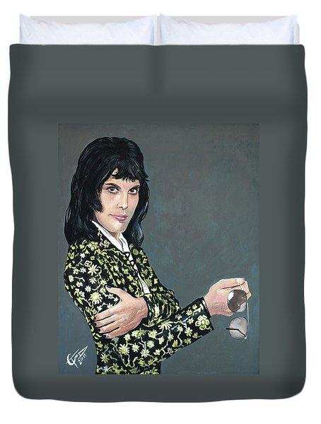 Freddie Mercury Duvet Cover by Tom Carlton