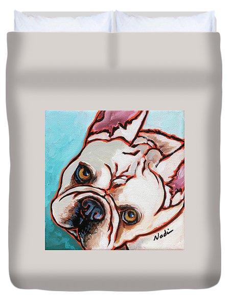 French Bulldog Duvet Cover by Nadi Spencer