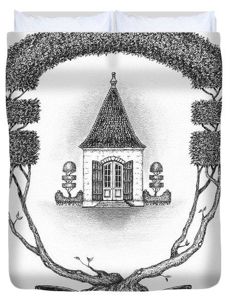 French Garden House Duvet Cover by Adam Zebediah Joseph