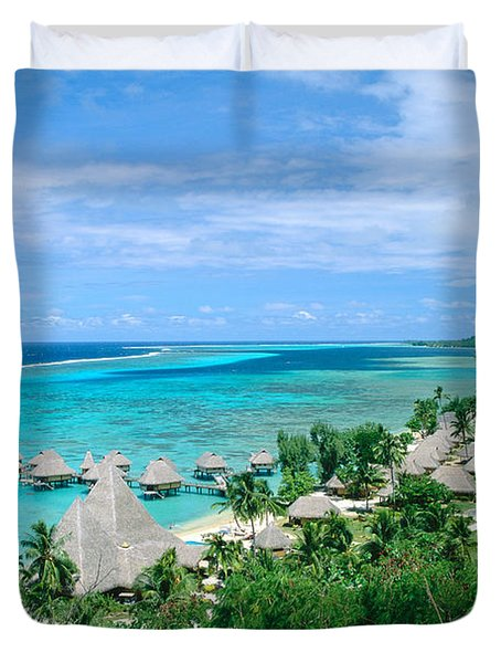 French Polynesia, Moorea Duvet Cover by Kyle Rothenborg - Printscapes