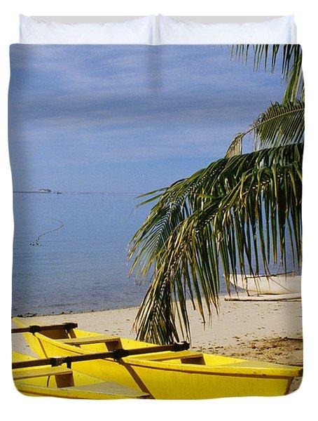 French Polynesia, Rangiro Duvet Cover by Mary Van de Ven - Printscapes
