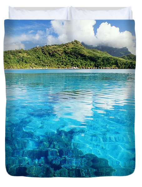 French Polynesia, View Duvet Cover by Joe Carini - Printscapes