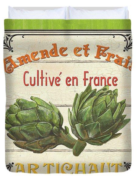French Vegetable Sign 2 Duvet Cover by Debbie DeWitt