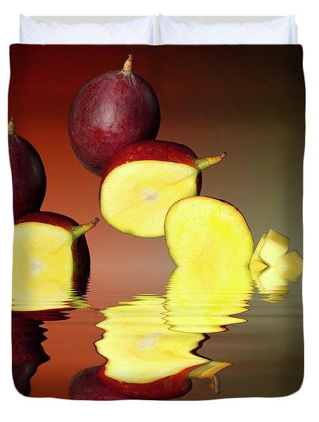 Fresh Ripe Mango Fruits Duvet Cover by David French