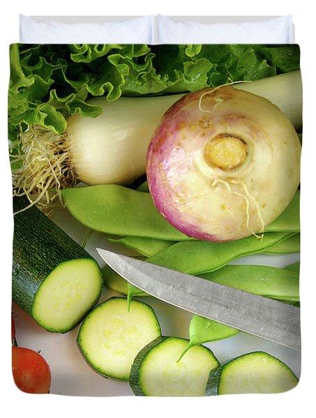 Fresh Vegetables Duvet Cover by Carlos Caetano