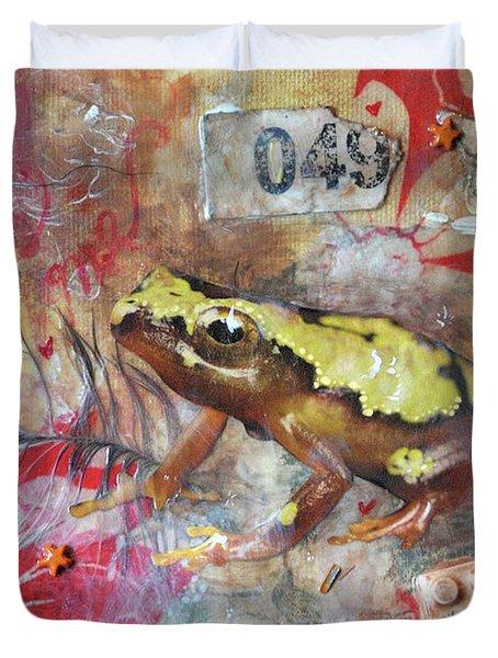 Frog Prince Duvet Cover by Jennifer Kelly