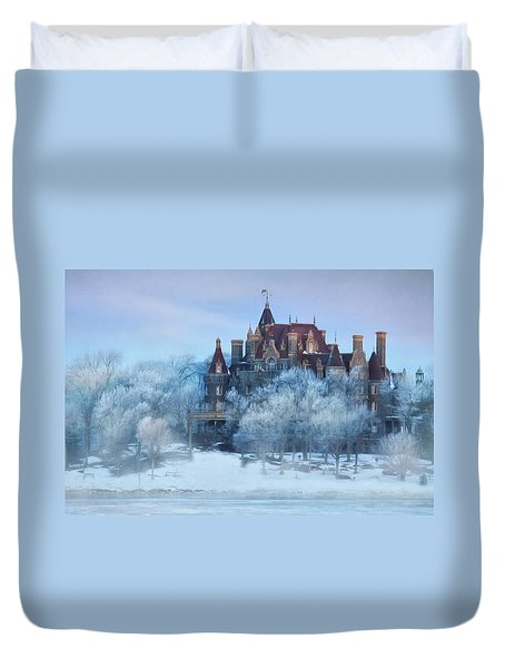 Frosted Castle Duvet Cover by Lori Deiter