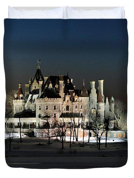 Frozen Boldt Castle Duvet Cover by Lori Deiter