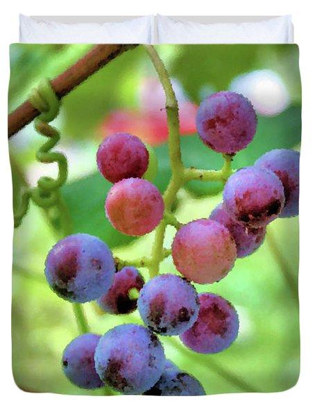 Fruit of the Vine Duvet Cover by Kristin Elmquist