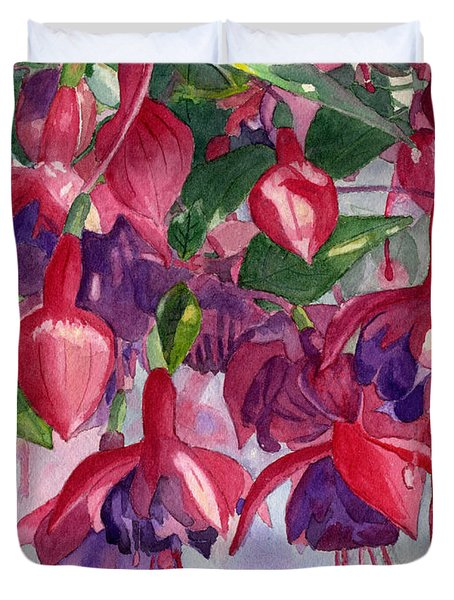 Fuchsia Frenzy Duvet Cover by Lynne Reichhart