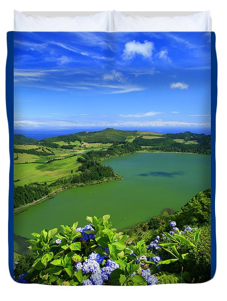 Furnas Lake Duvet Cover by Gaspar Avila