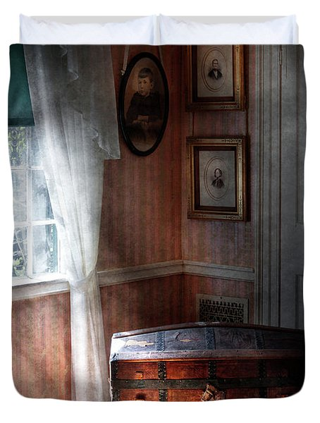 Furniture - Bedroom - Family Secrets Duvet Cover by Mike Savad