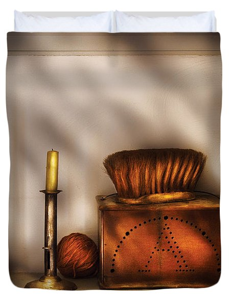 Furniture - Shelf - A collection of curious items Duvet Cover by Mike Savad