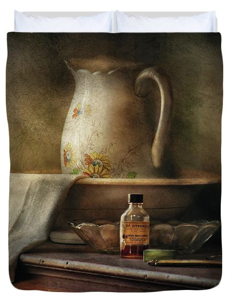 Furniture - Table - The Water Pitcher Duvet Cover by Mike Savad