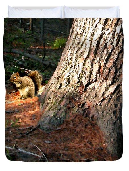 Furry Neighbor Duvet Cover by Paul Sachtleben