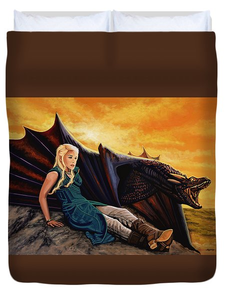Game Of Thrones Painting Duvet Cover by Paul Meijering