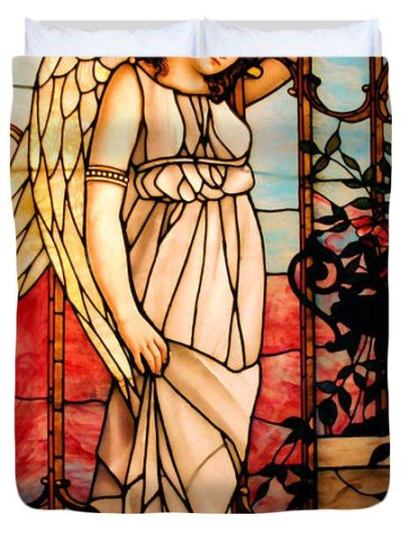 Garden Angel Duvet Cover by Kristin Elmquist