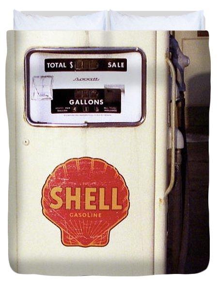 Gas Pump Duvet Cover by Michael Peychich