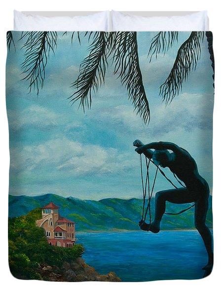 Gateway to Portofino Duvet Cover by Charlotte Blanchard