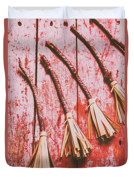 Gathering Of Evil Witches Still Life Duvet Cover by Jorgo Photography - Wall Art Gallery