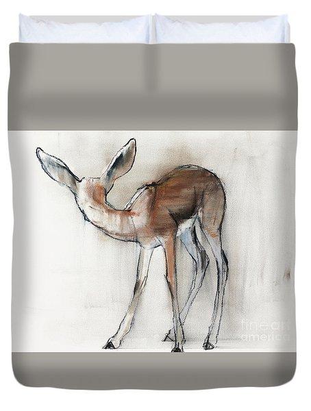 Gazelle Fawn  Arabian Gazelle Duvet Cover by Mark Adlington